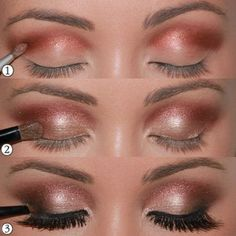 Copper, coral and champagne smokey eye http://kristinkickass.tumblr.com/post/3898319159/1-start-the-dished-scoring-well-with-the
