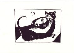 Meemow, 'The woman loves her cat'