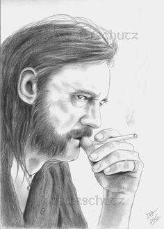 Lemmy Kilmister/Motörhead, original Zeichnung, fine art, drawing