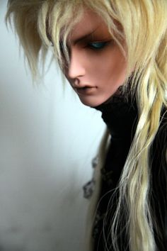 Male bjd blonde wig, mysterious