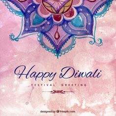 Hand painted happy diwali background Free Vector Discover thousands of free-copyright vectors on Freepik