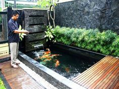 7 Exciting Fish Pond Design For Small Backyard Ideas - Alles über den Garten Fish Ponds Backyard, Backyard Water Feature, Backyard Ideas, Koi Ponds, Pond Ideas, Small Fish Pond, Koi Fish Pond, Fish Pool, Small Ponds