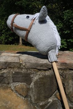 Free Knitting Pattern for Hobby Horse Stormy Dawn - This softie is knit in the round with construction similar to a sock. Designed by Sara Elizabeth Kellner