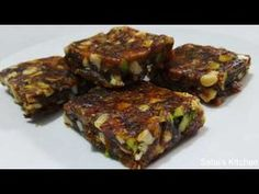 Anjeer barfi is made of dried figs, dates and nuts, an easy guilt free sweet that is sugar free and can be prepared under 20 minutes. Anjeer Burfi is really . Dried Figs, Dried Fruit, Diwali Special Recipes, Sweets Recipes, Desserts, Meatloaf, Sugar Free, Recipies, Pork