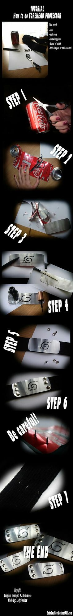 For naruto cosplayers, i found this awesome tutorial on deviant art!