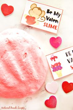 The Best Valentine's Day Fluffy Slime with free Valentine's Printables
