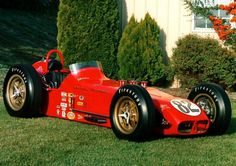 The first Chevy V8 at Indy, and in an awesomely early 60's design.