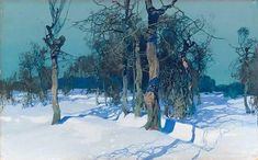Winter Scene by Stepan Fedorovich Kolesnikov on Curiator, the world's biggest collaborative art collection. Painting Snow, Winter Painting, Painting & Drawing, Gouache Painting, Watercolor Landscape, Landscape Art, Landscape Paintings, Russian Painting, Russian Art