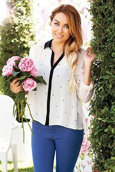 #Celebrity #Fashion - @LaurenConrad's Fall Collection for Kohl's: Chiffon Blouse