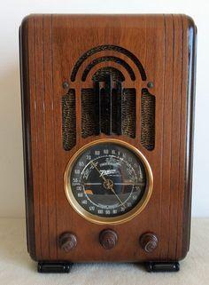 Zenith 5 s 228 Antique Tombstone Style Radio 1938 Art Deco Cabinet Plays | eBay