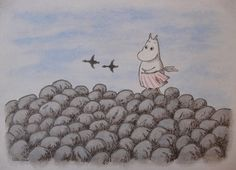 Moominmamma watches the geese fly North