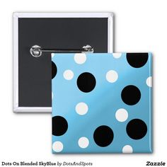 Dots On Blended SkyBlue 2 Inch Square Button