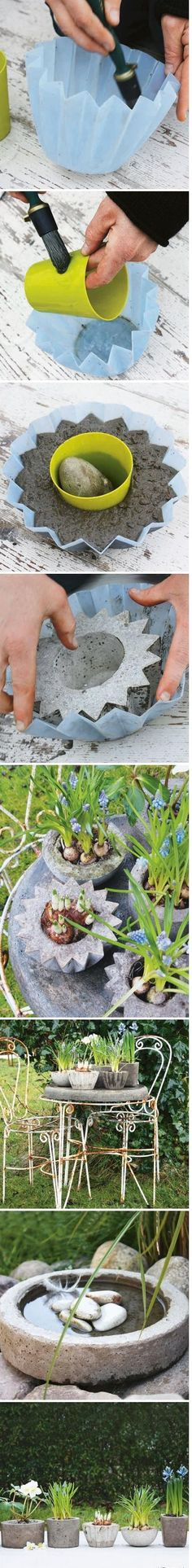 Do it yourself garden decoration - 13 ideas with instructions - DIY garden deco. : Do it yourself garden decoration - 13 ideas with instructions - DIY garden deco. Garden Crafts, Diy Garden Decor, Garden Projects, Diy Crafts, Diy Projects, Diy Decoration, Mosaic Projects, Garden Decorations, Concrete Planters