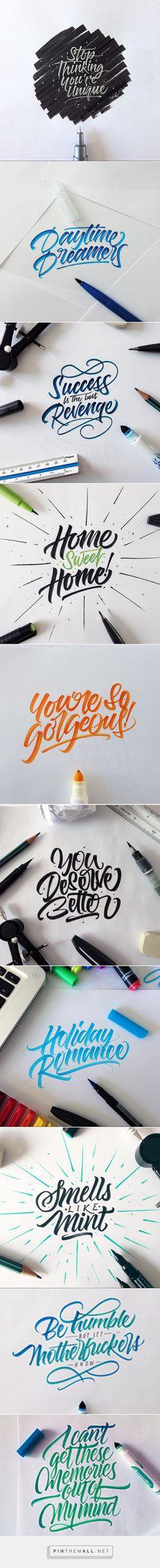 Crayola & Brushpen Lettering /// - created via http://pinthemall.net