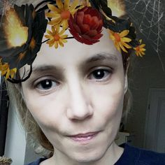 Halloween Filter. No Makeup but  absolutely loving this filter