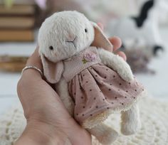 Items similar to Teddy bunny Anabel soft toy, rabbits toy, artist teddy, Stuffed toy on Etsy Homemade Stuffed Animals, Sock Animals, Clay Animals, Teddy Toys, How To Make Toys, Plush Pattern, Rabbit Toys, Cute Teddy Bears, Stuffed Animal Patterns