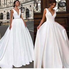 👗 Wedding dress 👰 Ideas and inspirations 6 🕊 . - Brautkleid - Dresses for Wedding Wedding Robe, Top Wedding Dresses, Wedding Dress Trends, Princess Wedding Dresses, Wedding Attire, Bridal Dresses, Wedding Gowns, Classy Wedding Dress, Backless Wedding