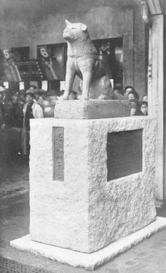 Hachiko- commemorative bronze statue was erected at Shibuya station. Crowds gather each April 8 to remember him.