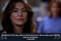 """Everybody needs somebody. 