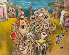 Hallucination with Monster and Cock - Alan Davie Alan Davies, Sound Art, Art Brut, Mail Art, Your Paintings, Fine Art, Artwork, Script, Postcards