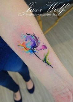 Watercolor Tattoos by Javi Wolf - Tattoo Designs For Women!