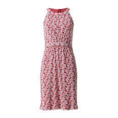 Ärmelloses Mesh-Kleid in auburn