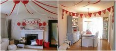 DIY circus tent with streamers