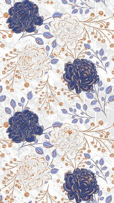 New flowers illustration wallpaper fabrics Ideas Blue Wallpaper Iphone, Blue Wallpapers, Flower Iphone Wallpaper, Wallpapers Android, Flower Backgrounds, Wallpaper Backgrounds, Iphone Backgrounds, Trendy Wallpaper, Print Wallpaper