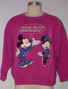 Mickey And Minnie Mouse Sweat Shirt  Dahling You by LolidollDiy, $25.00