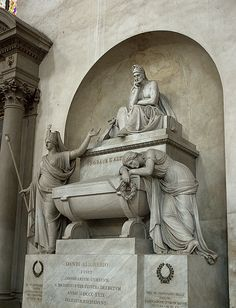 Dante's Tomb - Santa Croce Church - Florence Italy by cloud2013, via Flickr