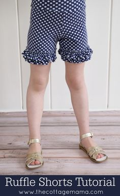 Ruffle Shorts Tutorial