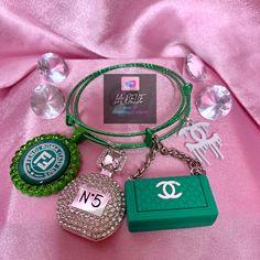 Arm Candy Bracelets, Bangle Bracelets With Charms, Cute Bracelets, Handmade Bracelets, Cute Jewelry, Body Jewelry, Jewellery, Business Baby, Business Ideas