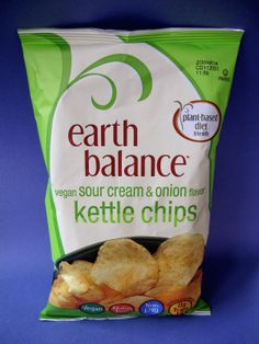 Earth Balance Vegan Sour Cream & Onion Kettle Chips.