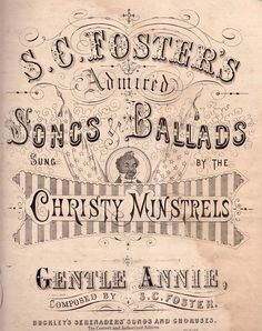 Antique sheet music cover