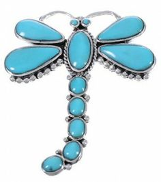 I want this!!! Turquoise Sterling Silver Dragonfly Pin Pendant PX42824