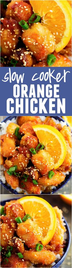 This Slow Cooker Orange Chicken is WAY BETTER than TAKEOUT! So delicious! - A super easy, delicious, and healthy dinner recipe to make this week! Crock Pot Recipes, Recetas Crock Pot, Crock Pot Food, Crockpot Dishes, Crock Pot Slow Cooker, Slow Cooker Chicken, Slow Cooker Recipes, Cooking Recipes, Crockpot Meals