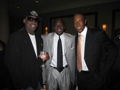 Dennis Rodman, Michael Jordan and Scottie Pippen
