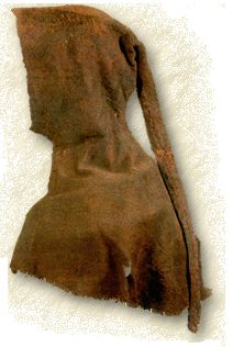 Herjolfsnes hood. 14th century Greenland. The long tail (liripipe?) is evidence that they kept up with European fashions.