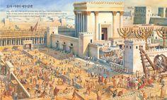 """The Temple of Jerusalem Jerusalem""- Imagen Historical Art, Historical Pictures, Ancient Rome, Ancient History, Jewish History, Jerusalem Bible, Solomons Temple, Jewish Temple, Bible Images"