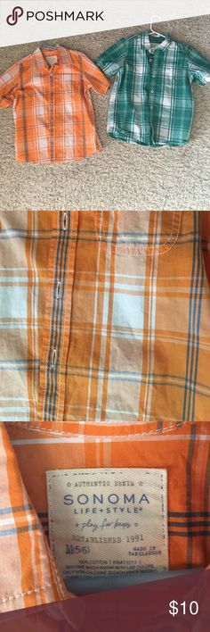 Boys shirts size 5/6 Excellent condition. Rarely worn from a non-smoking home. Both shirts for $10 total. Sonoma Shirts & Tops Button Down Shirts