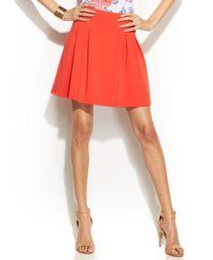INC International Concepts Pleated Scuba Mini Skirt $7.99