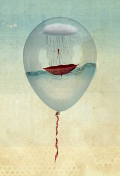 tem dias que chove até dentro do balão.