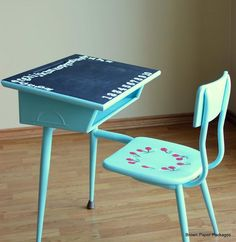 DIY Furniture : DIY  School Desk Turns Retro