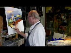 "01-Demonstration of knife painting by Christian Jequel: ""Harvest"" - YouTube"