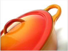 Vintage French LE CREUSET Volcanic Orange by UncommonRecycables, $98.00