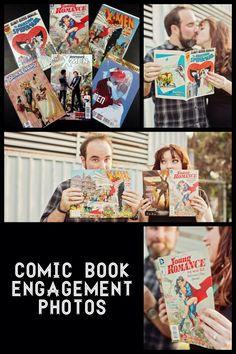 #NerdLove Comic Book Engagement Photos!