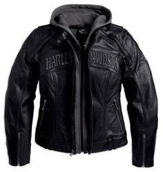 Harley-Davidson Women's Reflective Skull 3-in-1 Leather Jacket. 98152-09VW