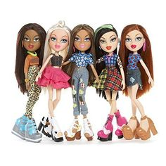 Bratz Hello My Name Is 5 Pack Doll Set