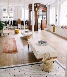 Morgane Sezalory is quite an inspiration. A Dreamy Paris Apartment Boutique Interior, Clothing Store Interior, Home Design, Interior Design, Design Ideas, Commercial Design, Commercial Interiors, Sezane Paris, Interior Minimalista