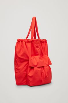 COS image 3 of Gathered tote bag in Red